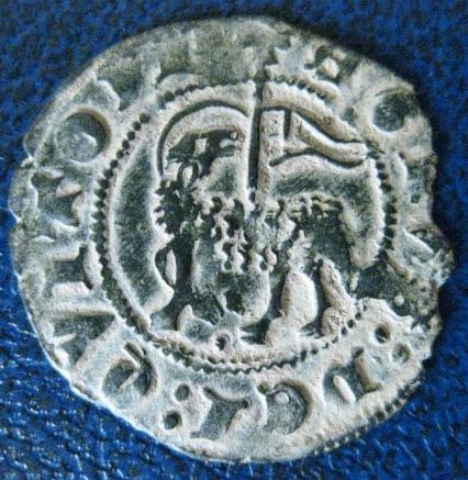 Dedicada a Moinante - Blanco del Agnus Dei de Juan I (Burgos, 1386) [Roma 282, 2-b var.] 231658594