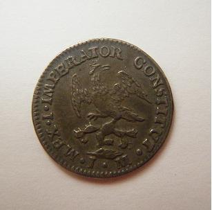 México, 1/2 Real (Iturbide), 1822 [WM n° 7428]. 871841157