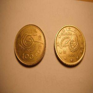 100 pts 1999 en cospel de 50 cts de euro....!!!!! 129920115