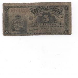 5 centavos de La Habana 1896 130320310