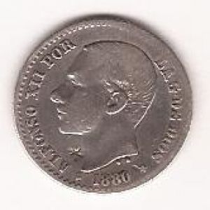 Moneda de 50 centimos de Alfonso XII, ¿ Resello ? 148978189