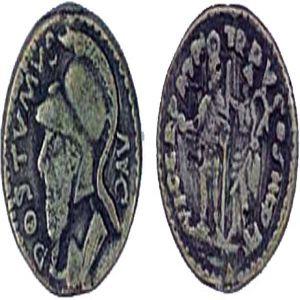 Copia imitativa de Denario de Póstumo. VICT GERM TR P V COS III P P 245648195