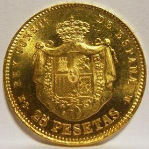 25 Pesetas 1880 MS M 327125162
