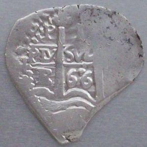 1 Real 'corazón' de Carlos II (Potosí, 1666) ensayador Antonio de Ergueta 55151504