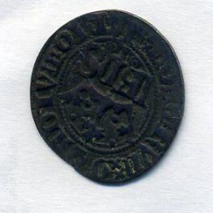 Reino de Portugal - Medio Real de 10 Sueldos (vellon) de Joao I 568253921