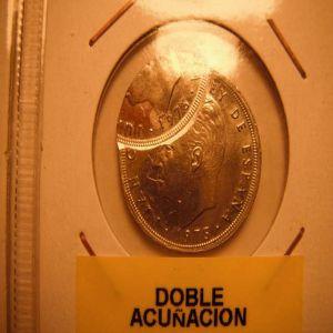 5 PTS DOBLE ACUÑACION`DE JUAN CARLOS I ( DOBLE ACUÑACION DE VERDAD) 683132867