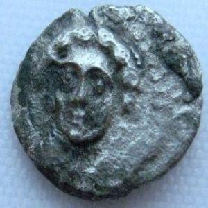 Hemiobolo acuñado en tiempos de Pharnabazos-Datames en Tarsos, Cilicia 743975434