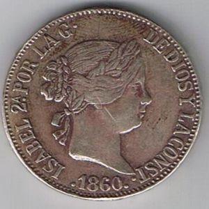 10 reales de Isabel II de 1960 765315049