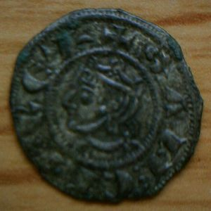Meaja coronada de Sancho IV (estrella, 1286) [Roma 212, 1-a] [WM n° 8018] 827962765