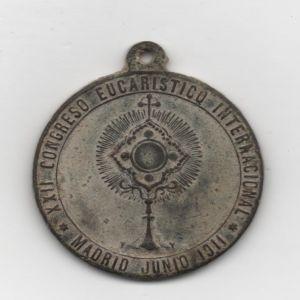 medalla  Congreso Eucaristico Madrid 1911 / Unifaz - s. XX 834731424