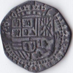 Réplica sobre dos reales de plata 853042179