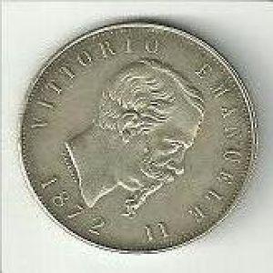 Italia, 5 liras, 1872. 879855495