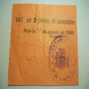 Vale 2 Ptas de Pravia. 934786101