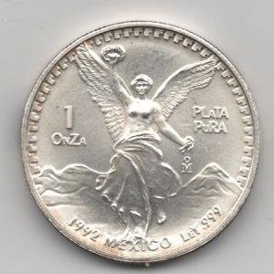 México, 1 Onza de plata, Angel de la libertad, 1992 967812771