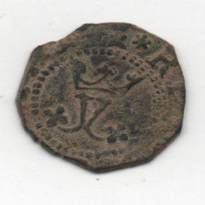 Blanca a nombre de los Reyes Católicos (Cuenca, 1558-1566) ensayador Pedro Román 988159553