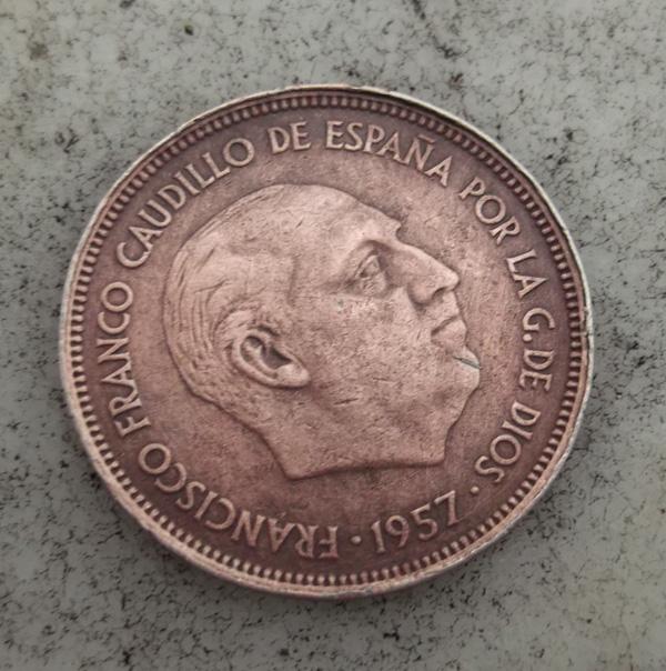 Moneda 25 pesetas 1957 estrella 65 (cobre) 850537093
