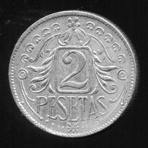 2 Pesetas de plata sin identificar 218416522
