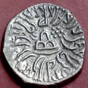 Dracma de Rudrasena III, Satrapas del Oeste, India 240545771