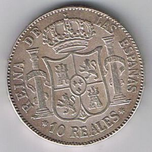 10 reales de Isabel II de 1960 294298190