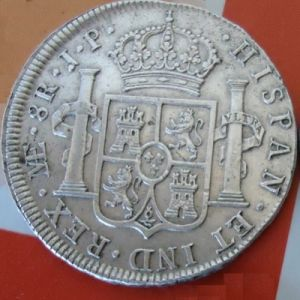 8 Reales 1810 JP. Fernando VII (busto indígena). Lima. 538777768