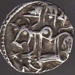 Dracma Shahi de Samanta Deva (jinete/vaca sagrada) 697116725