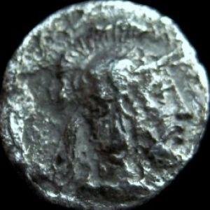 Obolo de Tarsos en Cilicia, tiempo de Pharnabazos y Datames 820340063