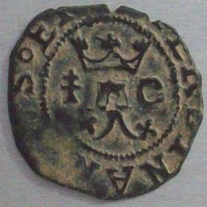 Blanca a nombre de los Reyes Católicos (Cuenca, 1558-1566) ensayador Pedro Román 889047803