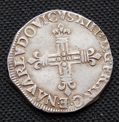 Quart d'écu de Navarre, Louis XIV  221890867