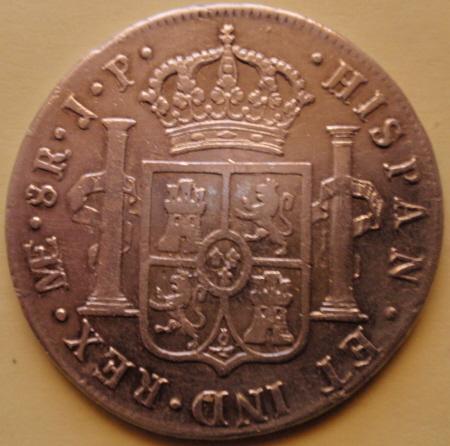 """8 Reales de Fernando VII, Tipo """"indio"""" Lima duda. [WM n° 6482] 720394768"""